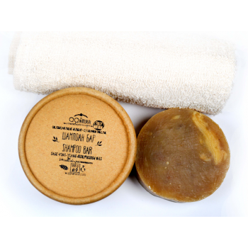 Natural Shampoo Bar With Sesame oil, Salvia and Ylang-Ylang