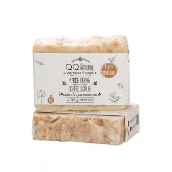 """100% Natural Face & Body Soap """"Coffee"""" Scrab With Coconut Oil, Cinnamon & Vanilia"""