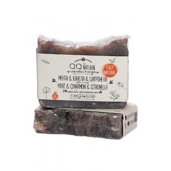 100% Natural Face & Body Soap With Mint, Cinnamon & Citronella